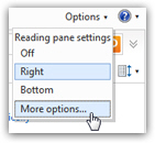 Access your Windows Live Hotmail account options and settings
