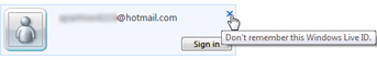 Clear your Hotmail login and sign out completely