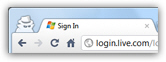 Hide your tracks when signing in to Hotmail in Chrome
