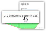 Login to Hotmail through the secure sign in form