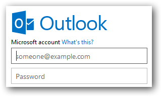 Blank Hotmail sign in screen, ready for account login
