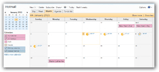 Sign in to see your Windows Live Hotmail calendar