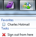 """Sign out from here"" in Windows Live Messenger for Windows 7"