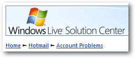 Windows Live troubleshooting for common Hotmail sign in problems
